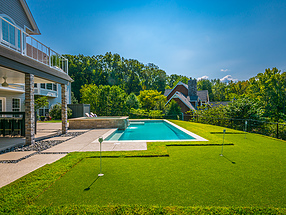 landscape design, hardscape, st. louis landscape, putting green, artificial turf