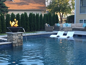 landscape design, st. louis landscape, privacy, fire bowl