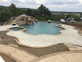 landscape design, st. louis landscape, before, pool