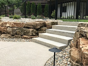 landscape design, flagstone, steps