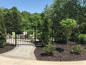 landscape design, fence, steel, maintenance free