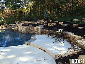 landscape design, st. louis landscape, before